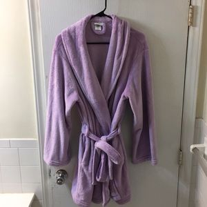 Lavender fuzzy bathrobe, size XL
